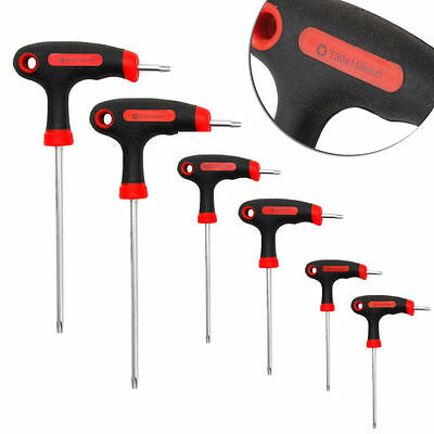 T-Handle Grip Torx & Hex Allen Key Screwdriver Driver Tool T10/15/20/25/30/40