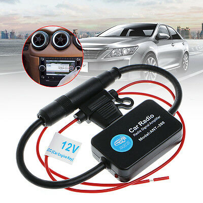 12V 25dB Car FM Radio Antenna Amplifier Booster with Indicator Model ANT-208
