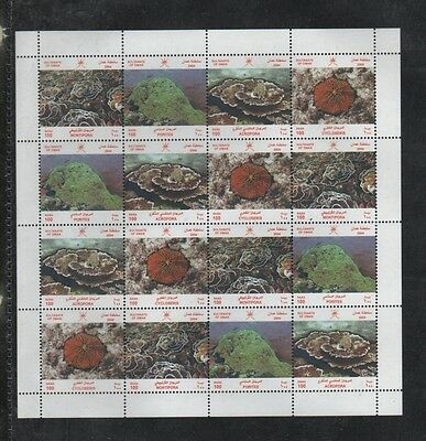 Oman 2004 Sg633A Sea Coral 4 Sets In Complete Sheet Mnh Sca