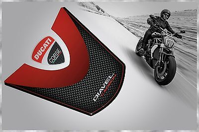 Ducati Corse Diavel X Carbon 3D Gel Domed Carbon Fiber Style Tank Pad Protector