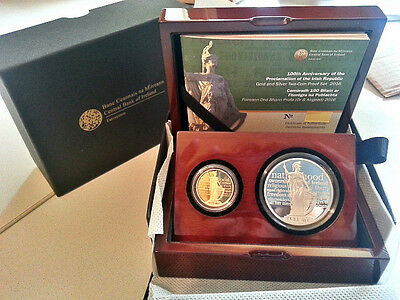 Ireland 2016 €15 & €50 Irish Proclamation Silver & Gold Double Proof Coin Set