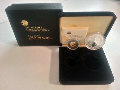 Ireland 2006 €10 & €20 Samuel Beckett Silver & Gold Double Proof Coin Set
