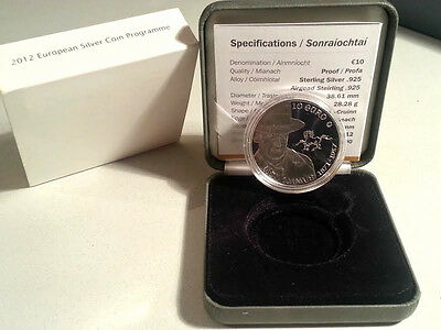 Ireland 2012 €10 Jack B Yeats Silver Proof Coin