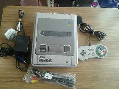 Super Nintendo Entertainment System White Console  + 3 Games