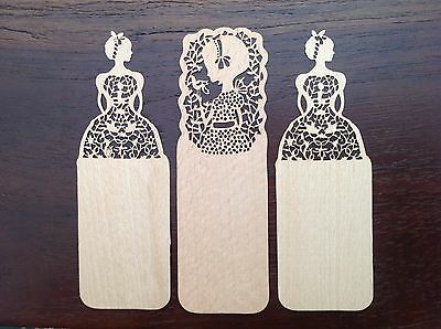 Lotto Set 3 Segnalibri In Legno Vintage ~ Bookmarks Wood