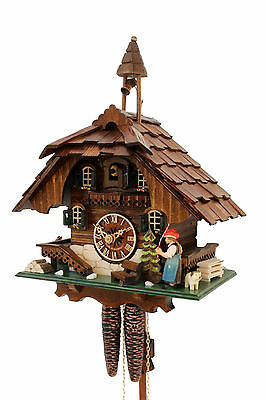 cuckoo clock black forest 1 day  german wood  mechanical new moving bell