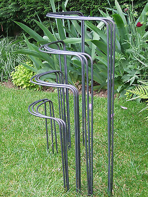 """3 x """"Bow-Type""""  Garden Plant Supports. Made from Solid 6mm Metal,"""