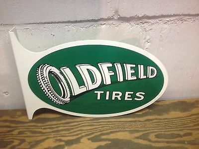 Vintage Large 40's Style Barney Oldfield Tire Gas Station Service Display Sign