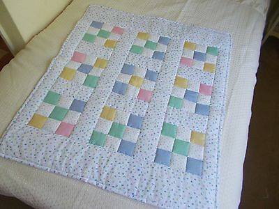 ** baby patchwork  quilt **          cot/floor/play/Tummy time  cotton