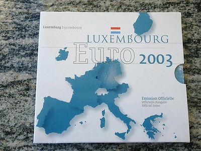 Serie Divisionale Euro 2003 Lussemburgo Luxembourg Luxemburg Unc Fdc Kms