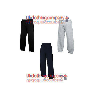 Fruit Of The Loom Childrens Jog Pants 3 Colours - Ages 5-13 - Tracksuit Bottoms