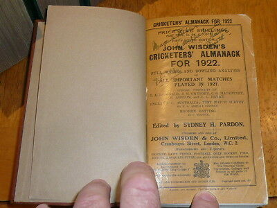 1922 WISDEN rebound both original wrappers covers highly collectible condition