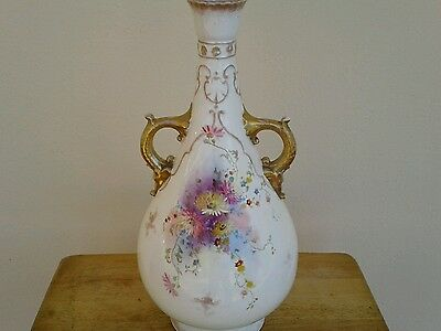 "Antique Royal Bonn 1755 Germany Vase Extra Large 16.5"" Hand Painted Floral 2"