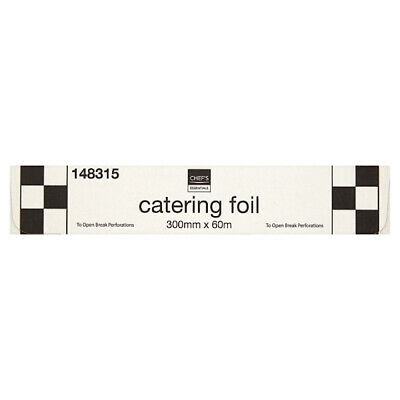 Value Essential Home Catering Kitchen Foil 30cm x 60m Dispenser Box Chefs Larder