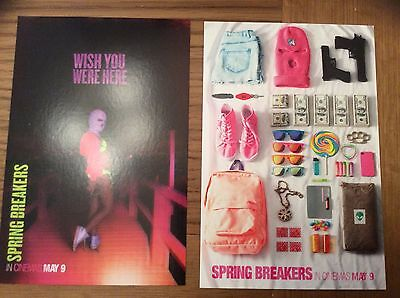 TWO POSTCARDS ONLY Spring Breakers