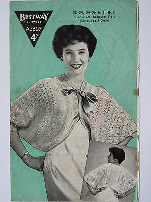 Vintage/retro 40s / 50s forties / fifties knitting pattern Bestway A2607