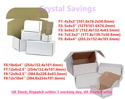 White Die Cut Folding Lid Cheap Postal Cardboard PIP Boxes Small Parcel Shipping