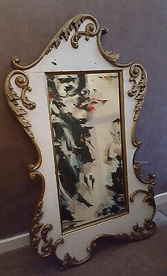 Large decorative Vintage French style distressed mirror