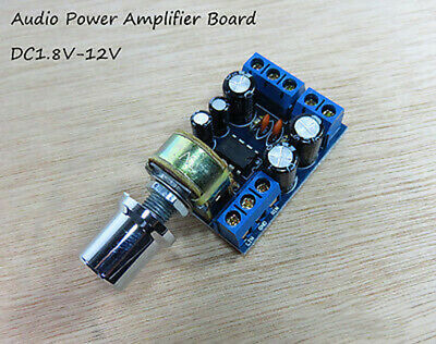 DC3V 5V 6V 12V Audio Power Amplifier Board TDA2822M Mini 2.0 Channel 1W*2 Stereo