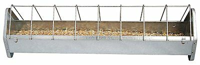 Esschert's Garden Galvinised Chicken Feeder by Fallen Fruits  36 X 11 X 13 CMS