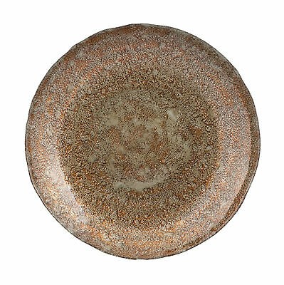 Prepossessing Copper Patina Glass Charger