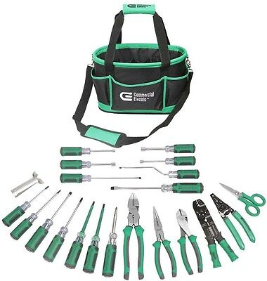 22 Piece Electricians Tool Set Electrician Tools Kit Wire Stripper Cable Ripper