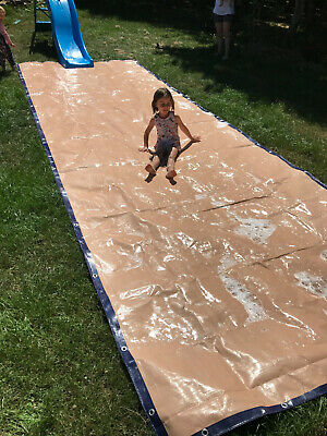 Heavy Duty Tarpaulin Slip n Slide Water Slip and Slide Garden Fun Summer