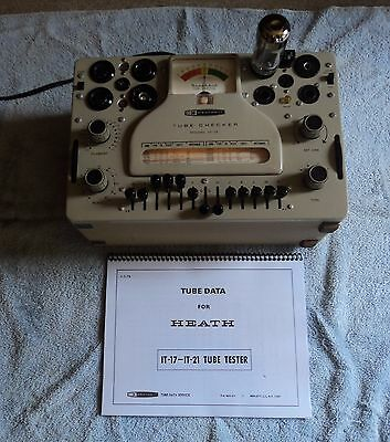 Heathkit It-17 Tube Tester Very Nice Shown Working Condition W/latest 1974 Data