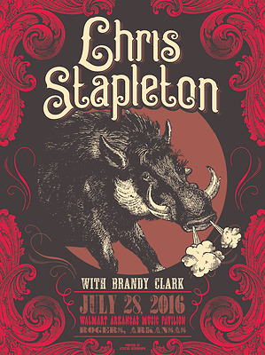Chris Stapleton - Traveler - 2016 - Rogers Arkansas - Justin Helton -Tour Poster