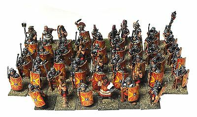 Roman Legionaries with command, Lorica segmentata (I-III sec. d.C.) - 28mm