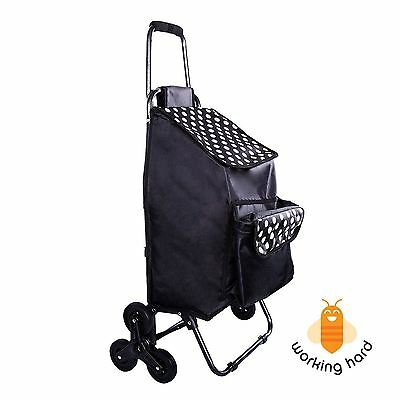 UTILITY SHOPPING CART Rolling Trolley Bag Lightweight Wheeled With Front Cooler