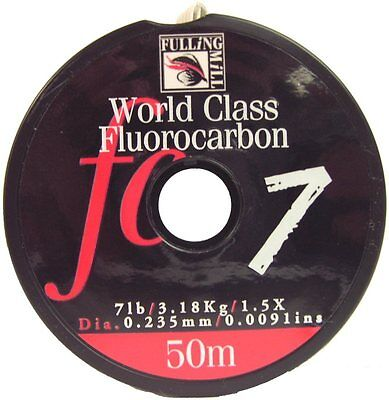 Fulling Mill NEW Fluorocarbon Strong Fly Fishing Leader - 50 Metres - Free P+P