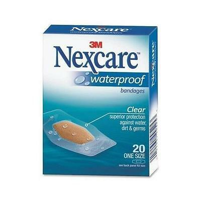 3M Nexcare Clear Waterproof Bandages - One Size Plaster 20 Pack UK Dispatch