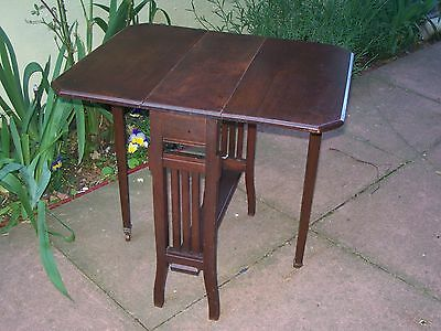 Antique small mahogany sutherland or gate leg table