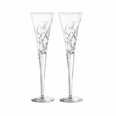 New Vera Wang Duchesse Toasting Flute Pair Clear