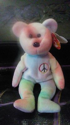 Rare 1996 Ty Beanie Baby Peace Bear Original Collectible with Tag Errors 1a5d5dfed6e4