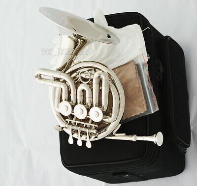 Top Quality Rose Brass Piccolo Mini French horn B-Flat Tone with case Free Ship