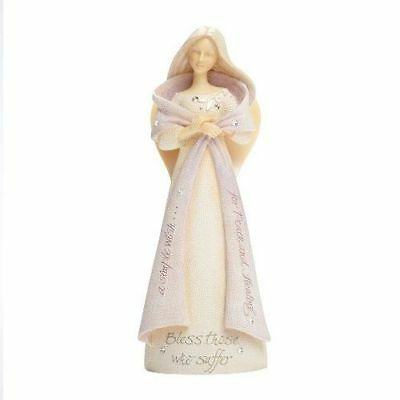 New Enesco Foundations Bless Those Who Suffer Angel Figurine,