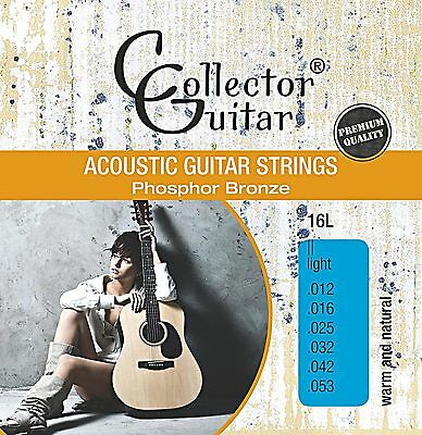 CollectorGuitar 16L Akustik- Westerngitarren-Saiten Phosphor Bronze Light