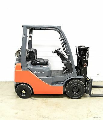 Nice! 2010 Toyota 3000 Lb Lpg Pneumatic Forklift Side Shift 8Fgu15 Air Tires