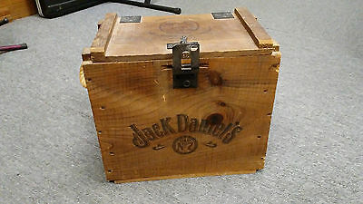 "VTG Jack Daniels Old No.7 ""The Volunteer Chest"" Wooden Crate Box"