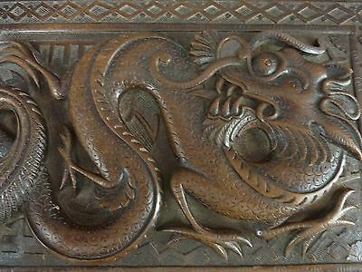 Antique Deeply Carved Hardwood Box, Chinese ?