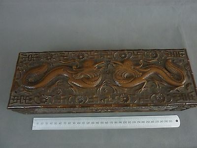 Antique Carved Hardwood Box, Chinese ?