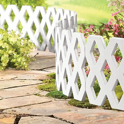 Flexible Lattice White Garden Lawn Grass Edging Border Panel Plastic Wall Fence