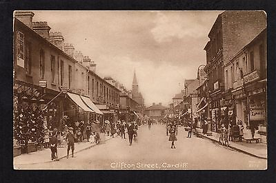 Cardiff - Clifton Street - printed postcard
