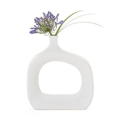 New Torre & Tagus Open Vase Wide - White