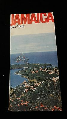 1964 Esso Oil Company Road Map Jamaica West Indies - RARE FREE shipping