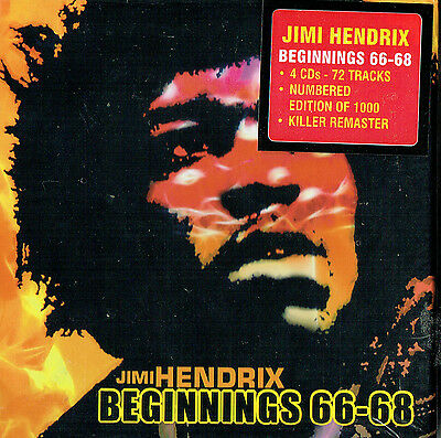 JIMI HENDRIX - Beginnings 66-68 (4cd limited edition Box set / New & sealed)