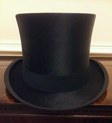 Mint Condition Lincoln Bennett Vintage Silk Black Top Hat Size UK 7 1/4 or 59cm