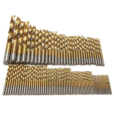 99pcs Titanium Coated High Speed Steel Serratula Drill Bit Set Tool W9S2